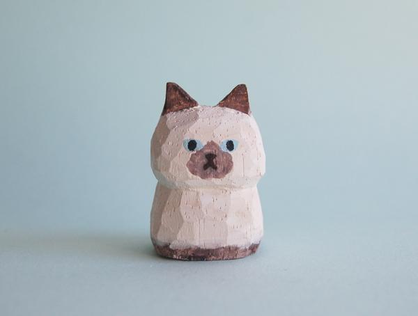 木彫り人形ねこ ポイント柄 [MWF-151]