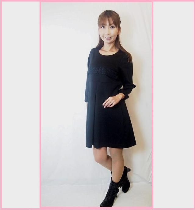 大人の着やせワンピ☆ブラックドレス