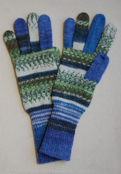 手編み5本指手袋 No.15