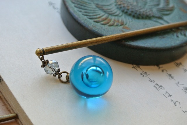 再販×15 手毬屋 海の気泡 かんざし