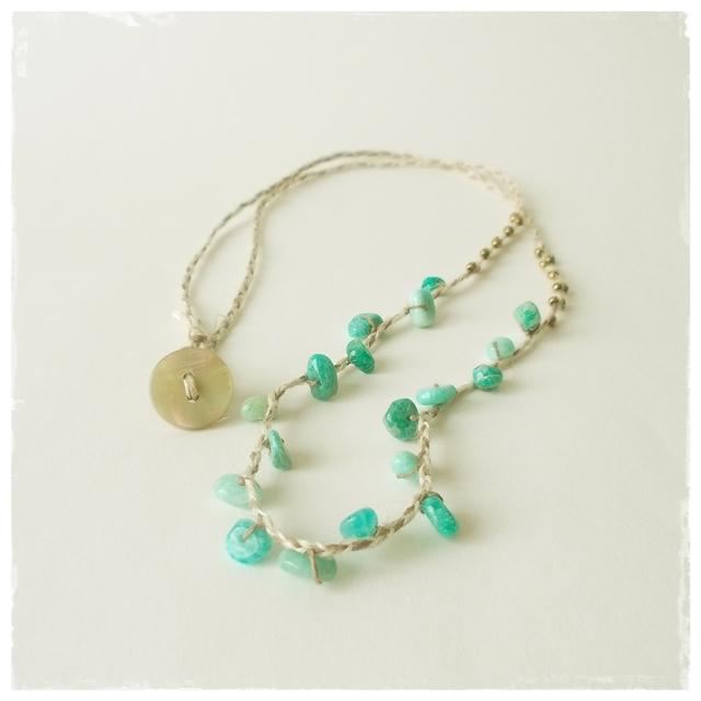 Mint color necklace