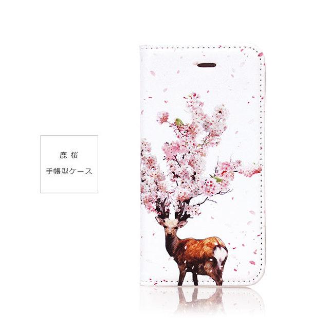 スマホケース  鹿桜