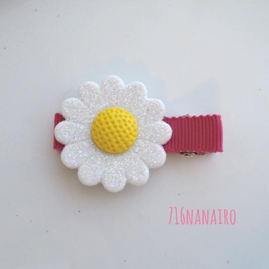 お花がどーんヘアクリップ