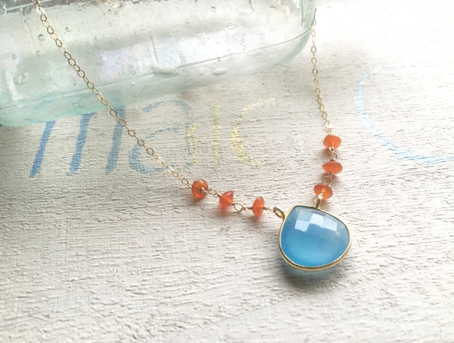 Seaside Sunset Necklace  *14kgf*
