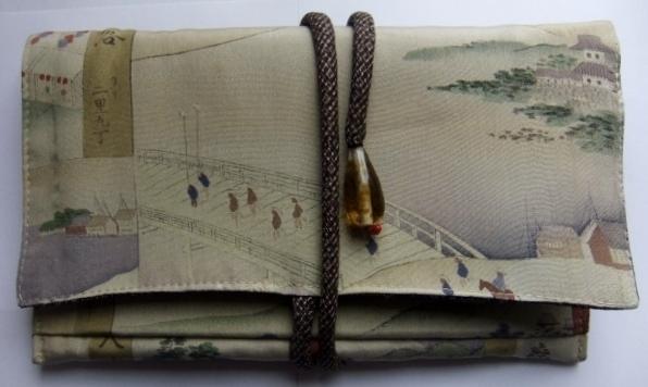 着物リメイク 長襦袢で作った和風財布 1047