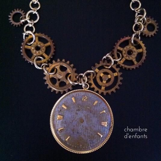 【現品限り】時計と歯車ネックレス