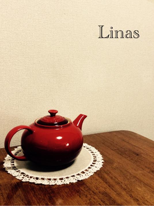 リトアニアリネンの花瓶敷き Linas3