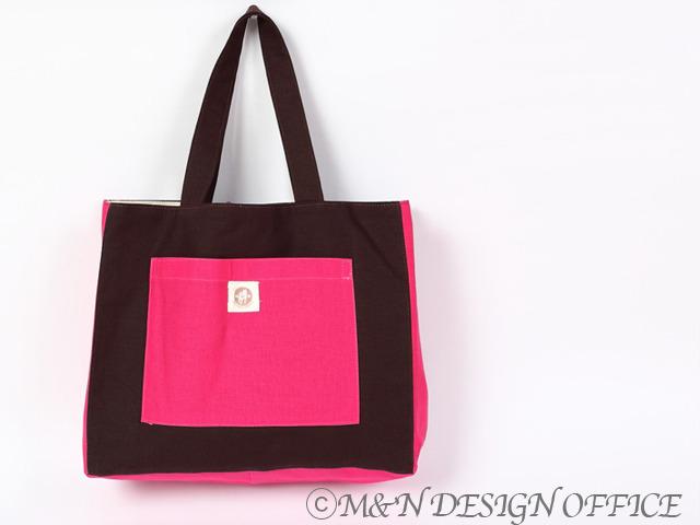 M&Nオリジナルカラフルバッグ/ブラウン&ピンク