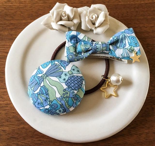 【再販】ママとお揃いリバティ☆ Jenny's Ribbons オシャレセット ラムネ
