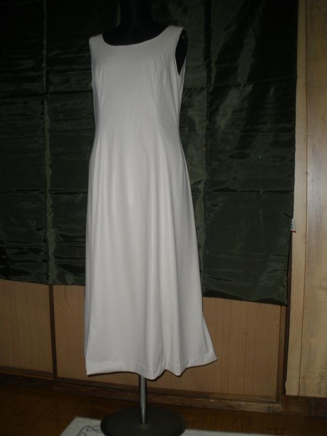 レザー風 アイボリードレス