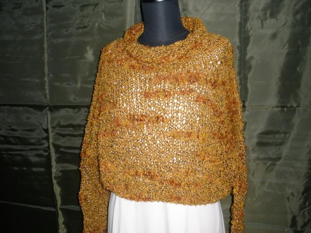 茶色 きらきらラメセーター