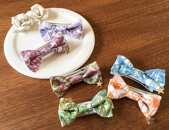 リバティ☆ Jenny's Ribbon Candy Color  ベビー&キッズヘアクリップ
