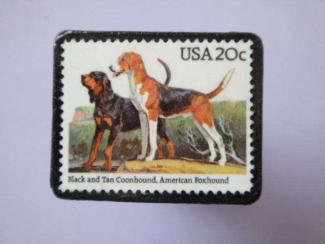 アメリカ 切手ブローチ751