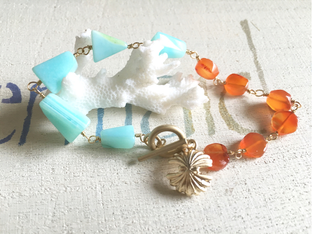 Sunset Beach Bracelet--Seashell