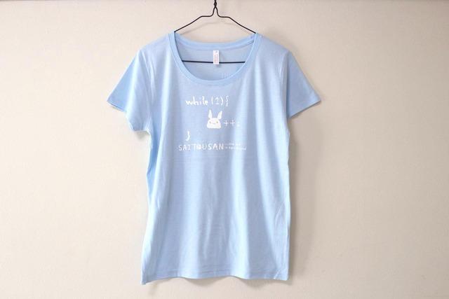 サイトウサン++Tシャツ 女性用M ライトブルー