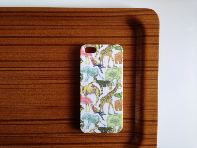 *iPhone5/5s**新作*Queue for the Zoo*ピンク&イエロー*リバティ*カバー*スマホケース