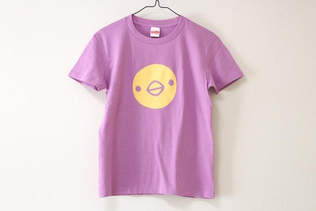 ひよこさん3匹Tシャツ ラベンダー(girls-M)