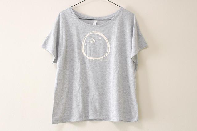 ひよこさんシンプルTシャツ ドルマンスリーブ(グレー)
