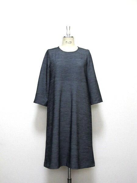 大人のよそゆきドレス☆ミモレ丈☆シャンタン織