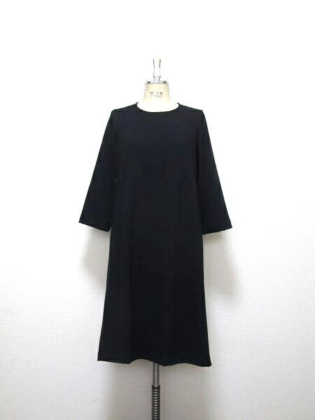 リトルブラック☆大人のAラインドレス☆ミモレ丈