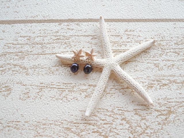 Star Fish 淡水パール ポストピアス