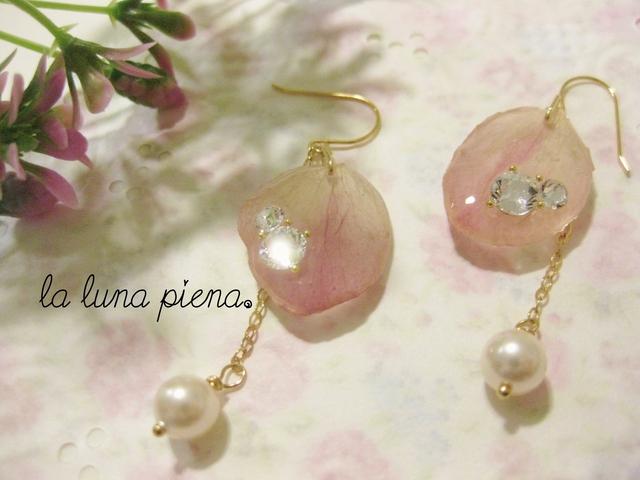 ◇k14gf◇ 桜の雫ピアス pearl