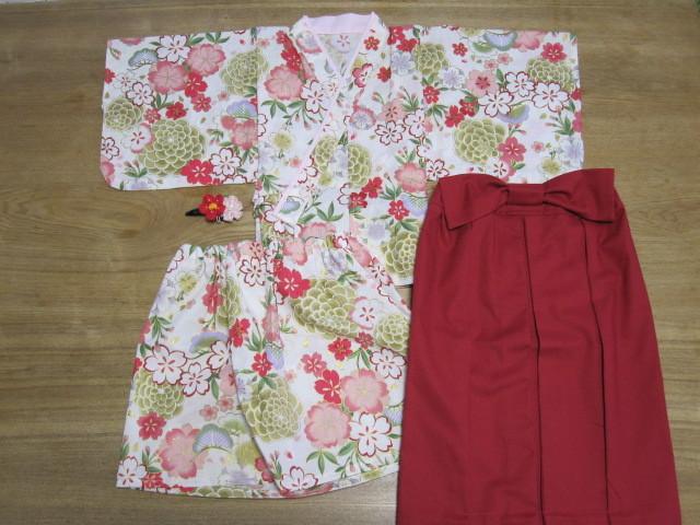 reiyuzu1719様オーダー品 90cm着物&袴風ロングスカート髪飾り