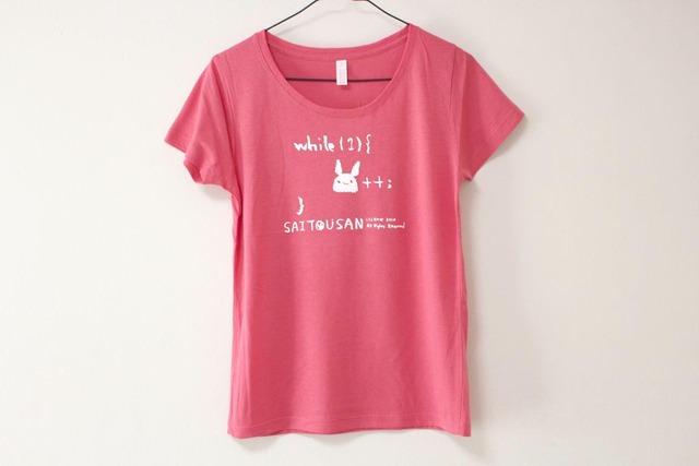 サイトウサン++Tシャツ アシッドレッド(girls-S)