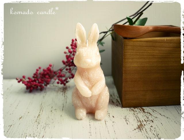 アンティーク風ウサギのキャンドル