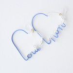 Arty Wire Pierced Earrings - oui non heart - LAVENDER