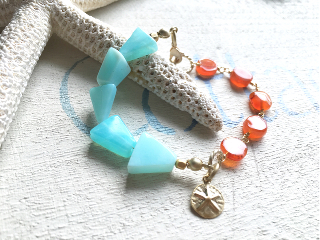 Sunset Beach Bracelet--sand dollar