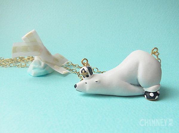 裸の王様 シロクマと氷山のネックレス [ねそべり/black] box付