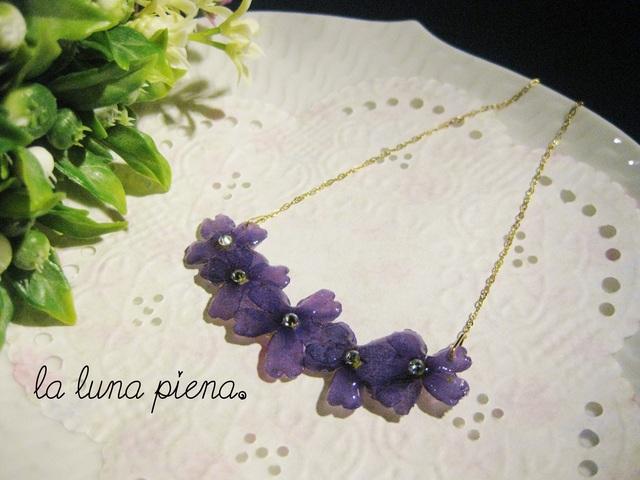 Verbenaネックレス deep purple