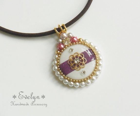 Circle pendant�� mum �� gold��