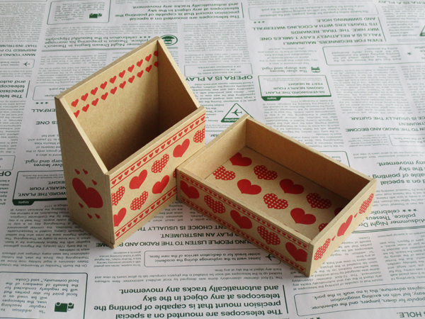 ハートの小箱セット(クラフト)