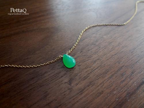 再販【14KGF】最上級クリソプレーズのネックレス