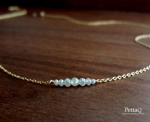 【14KGF】ダイヤモンドのネックレス