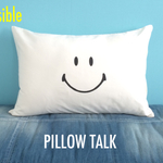 SMILE YES/NO PILLOW CASE<WHITE>
