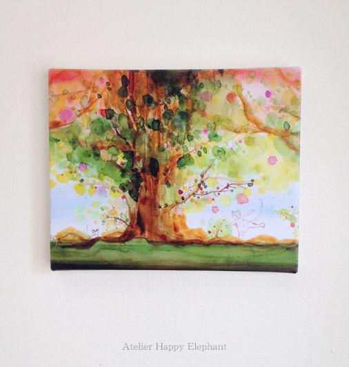 大きな木の下で 《F3キャンバスプリント版》