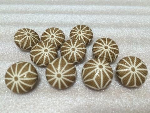 くるみボタンセット 1.5cm 栗色10個組