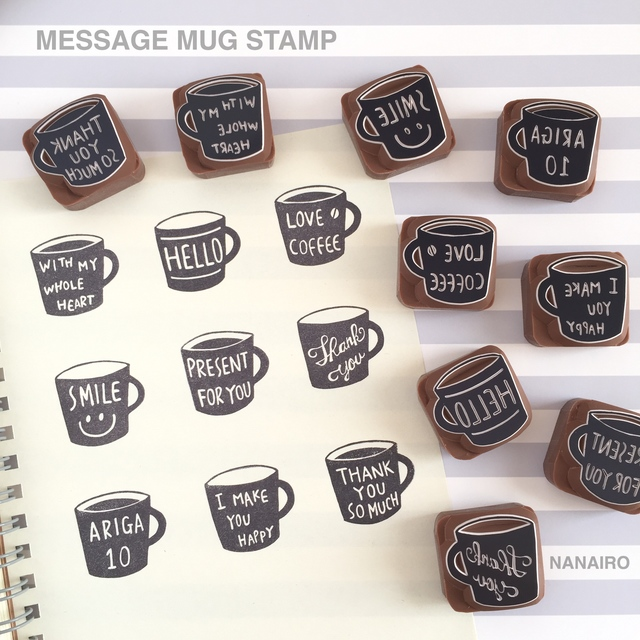 MESSAGE MUG STAMP ��ʸ�������ǽ��