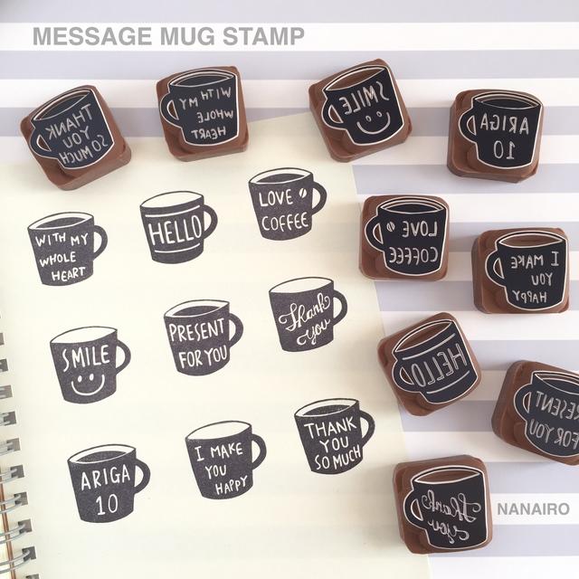 MESSAGE MUG STAMP 【文字入れ可能】