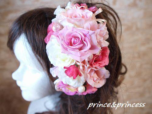 かわいいピンクのヘッドドレス