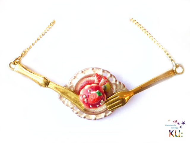 (G)Strawberry Cake Necklace~�������ʹԷ��ͥå��쥹~5