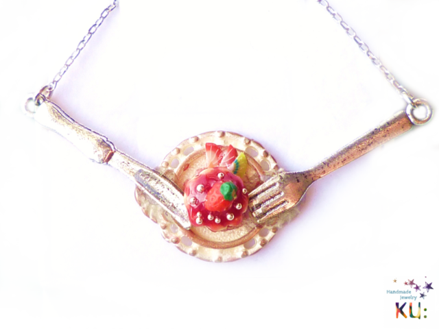(S)Strawberry Cake Necklace~お食事進行形ネックレス~2