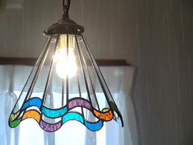 ステンドグラス ランプ 照明「Pure flare(ピュア フレア)レインボー」