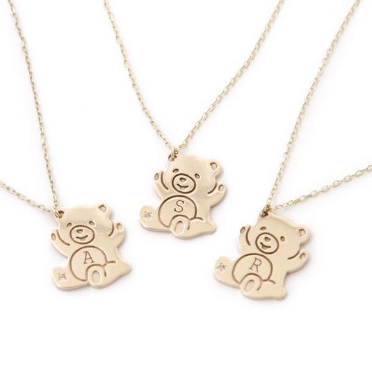 Promise Bear ★ K10 Petit Pendantイニシャルシリーズ