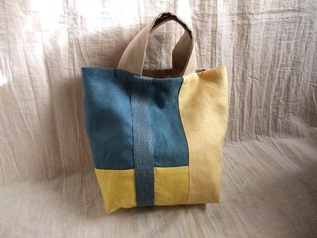 itoiro bag (blue&cream)
