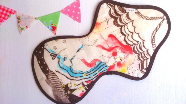 可愛い布ナプキン『人魚姫』夜用LLサイズ