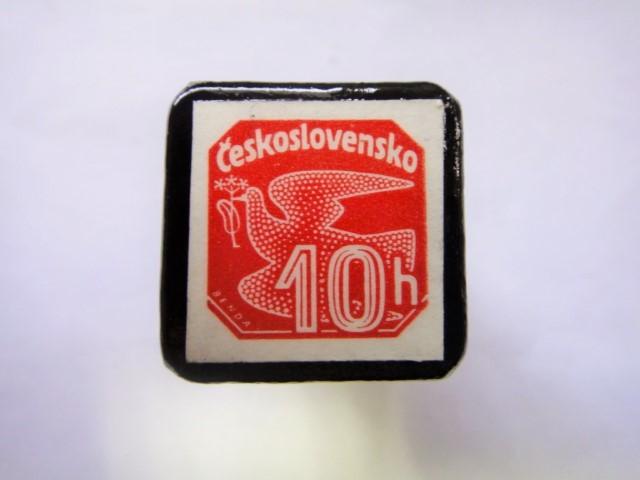 チェコスロバキア1937年切手ブローチ799
